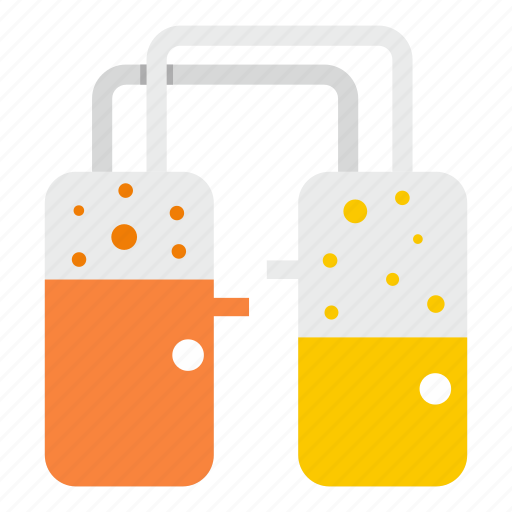 equipment, industry, laboratory, orange, production, reservoir, tank icon
