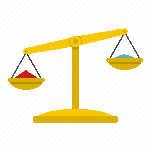 balance, decision, gold, justice, law, scale, weight icon
