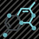 atom, chemistry, crystal, lattice, molecule, scientific, sphere icon