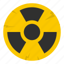 atomic, danger, energy, hazard, nuclear, radiation, radioactive icon