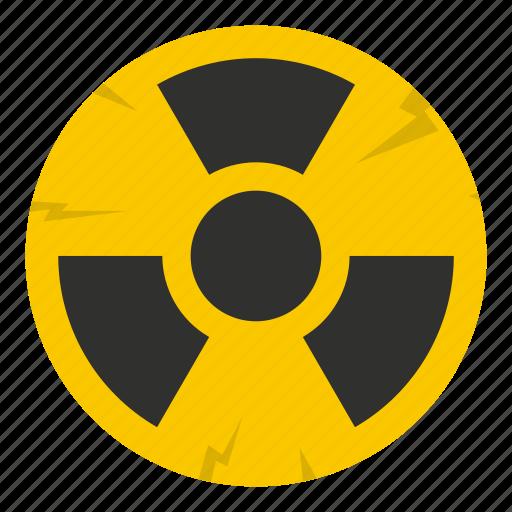 atomic, danger, energy, hazard, nuclear, radiation, radioactive icon