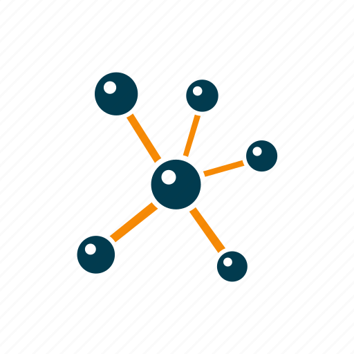 atom, bio, molecule, research, science, structure, technology icon