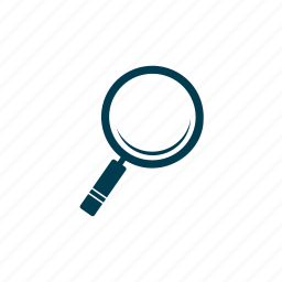 analysis, education, equipment, laboratory, magnifier, research, science icon