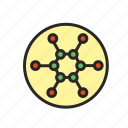 atom, chemistry, microscope, molecule, science, structure icon