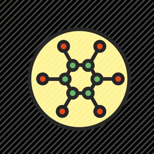 atom, chemistry, microscope, molecule, science, structure icon