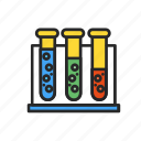 chemicals, experiments, flasks, glass, reagents, solutions icon
