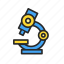 biology, laboratory, microscope, research icon