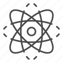 atom, isolated, thin, vector, yul8 icon