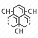 carbon, hydrogen, substance, thin, vector, yul8 icon