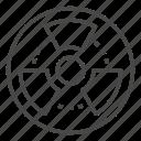 isolated, radiation, thin, vector, yul8 icon