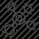 isolated, molecule, thin, vector, yul8 icon