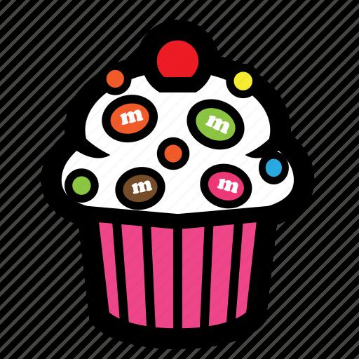 cake, cherry, cupcake, pastry, sweet icon