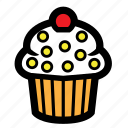 cake, cherry, cupcake, pastry, sweet icon