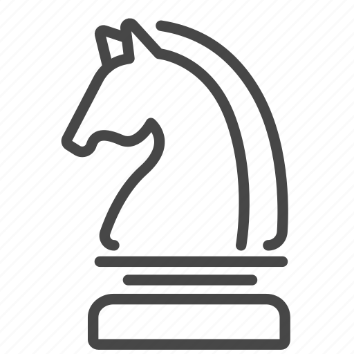chess, horse, knight, strategic, strategy, tactics icon