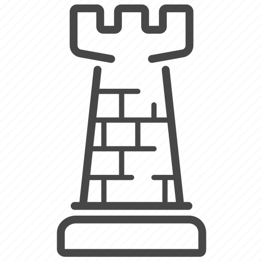 chess, game, rook, strategic, strategy icon