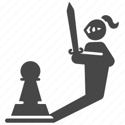 chess, game, hidden, pawn, power, strategic, strategy icon