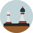 bishop, chess pieces, diagonal, game, move, pawn icon