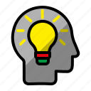 idea, strategy, tactical, think icon
