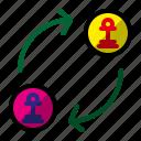 chess, game, pawn exchange, pawn promotion icon