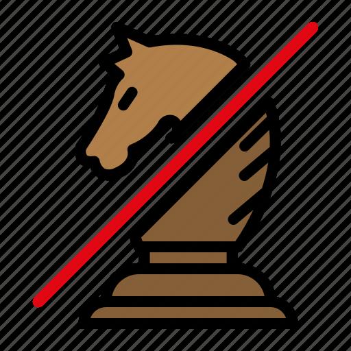 chess, knight, knight capture, knight piece icon