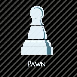 checks, game, pawn, sign, smart, thinking, white icon