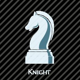 checks, game, knight, sign, smart, thinking, white icon