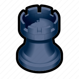 board, chess, game, piece, tower icon