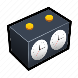board, chess, clock, timer icon