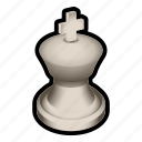 board, chess, game, king, piece, white icon