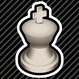 board, chess, game, king, piece, white icon