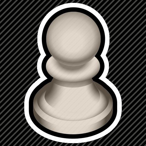 board, chess, game, pawn, piece, white icon