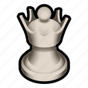 board, chess, game, piece, queen, white icon