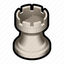 board, chess, game, piece, tower, white icon
