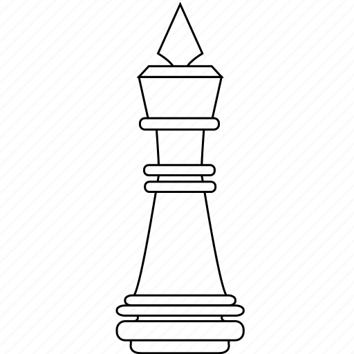 check, chess, crown, figure, game, king, piece icon