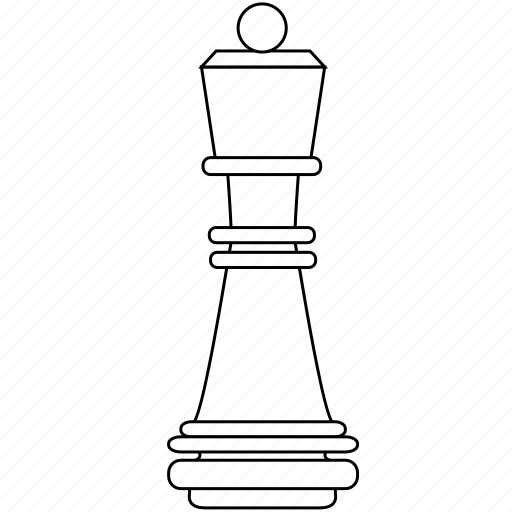 chess, figure, game, piece, queen, ruler, strategy icon