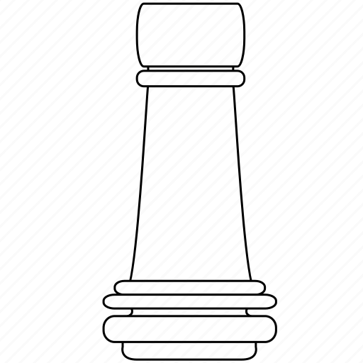 castle, chess, figure, game, piece, rook, strategy icon