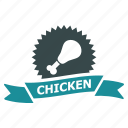 award, best, chicken, prize, ribbon, success, winner icon