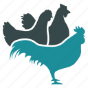 agriculture, chicken factory, chickens, cock house, hen coop, henhouse, roost icon