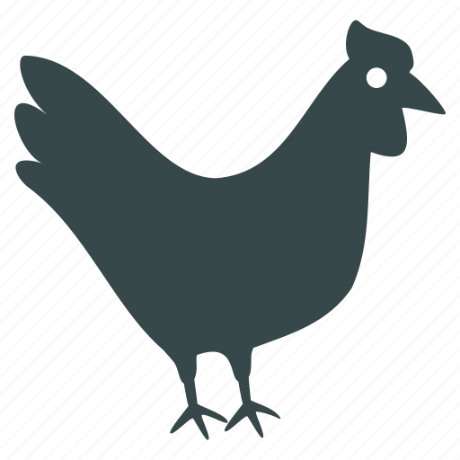 agriculture, bird, chicken, cock, farm, hen, village icon