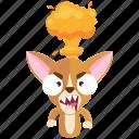 angry, chihuahua, emoji, emoticon, mindblown, smiley, sticker