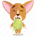chihuahua, emoji, emoticon, sick, smiley, sticker
