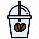 iced, coffee, food, drink, cup