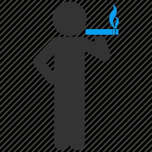 addiction, cigar, smoke, smoker, smoking person, tobacco, unhealthy icon
