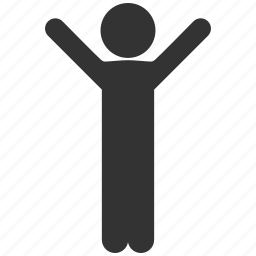 child, fun, hands up, happiness, happy boy, joy, satisfaction icon