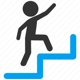 child, education, man, person, school, steps upstairs, student icon