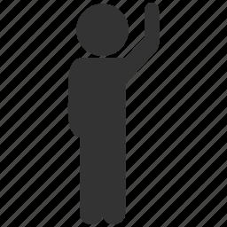 boy, child, guy, hello, human figure, man pose, user account icon