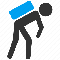 child, courier, delivery, porter, shipping, transportation, working kid icon