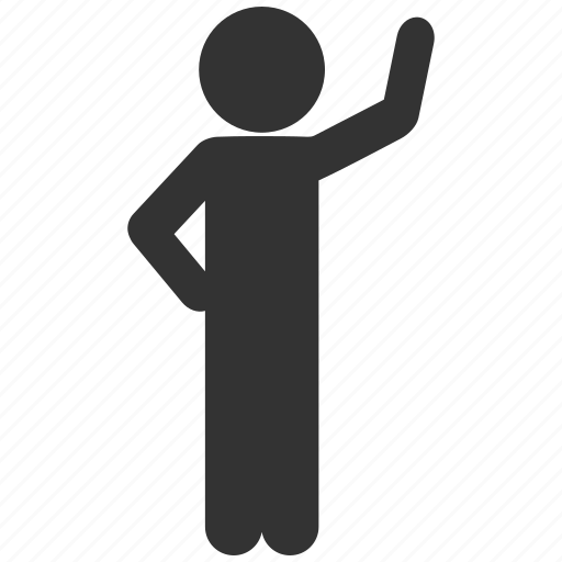 assurance, child, customer profile, hello, human figure, man pose, user account icon