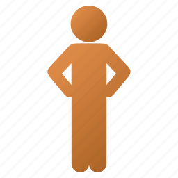 account, akimbo pose, child, guy, person, standing boy, user profile icon