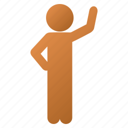 assurance, child, customer profile, hello, human figure, man pose, user account icon